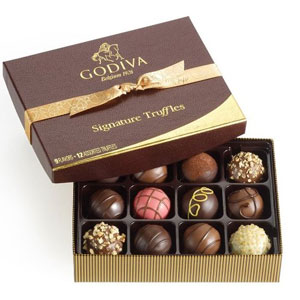 Godiva Chocolatier Truffles 12 Piece Gift Set