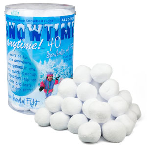Snowtime Anytime Indoor Snowball Fight