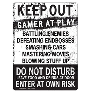 KEEP OUT Gamer At Play ENTER Tin Sign