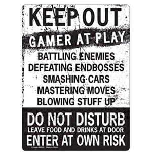 KEEP OUT Gamer At Play ENTER Tin Sign