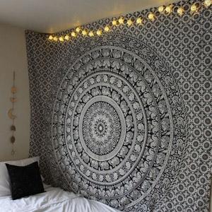Labhanshi 90 x 90 inch Elephant Mandala