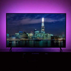 Luminoodle Bias Lighting for TV with Color