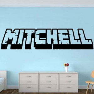 Minecraft Personalized Gamer Name Decal