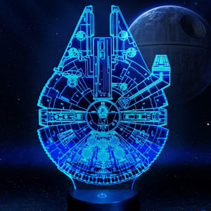 Star Wars Millennium Falcon Lamp