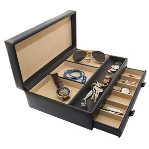 Stock Your Home Mens Dresser Valet Jewelry