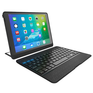 "ZAGG Rugged Book Pro - Magnetic-Hinged Bluetooth Keyboard and Case for Apple iPad Pro 9.7"" - Black"