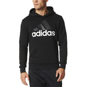 adidas Mens Essential Linear Logo Pull Over Hoodie