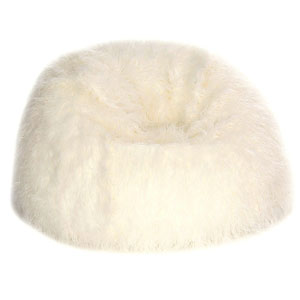 Acanva Faux Fur Teardrop Bean Bag Chair