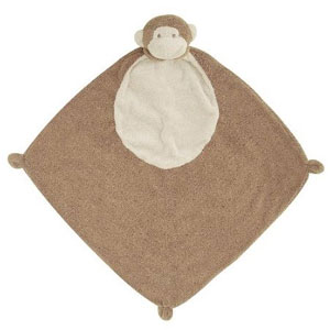 Angel Dear Blankie 3 Pair, Brown Monkey