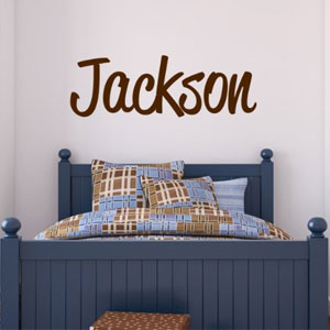 LucyLews Boys Name Wall Decal