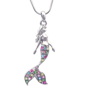 Fairytale Mermaid Pendant Necklace Jewelry