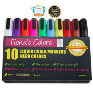 Fiona's Colors Liquid Chalk Markers