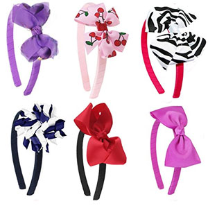 HipGirl Hair Bow Headband Set