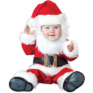 InCharacter Costumes Baby's Santa Baby Costume