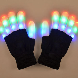 Luwint LED Flashing Finger Lighting Gloves