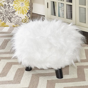 Linon Flokati Foot Stool