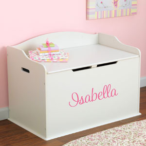 Personalized Modern Touch Toy Box For Girls