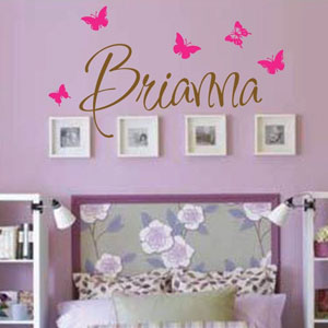 Personalized Girls Wall Decal