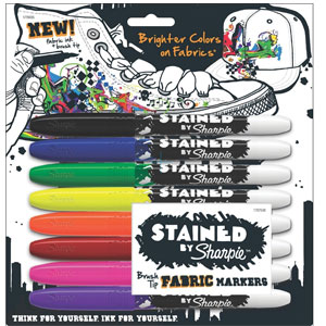 Sharpie Stained Fabric Markers