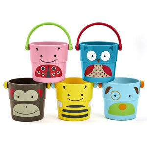 Skip Hop Zoo Bath Stack and Pour Bucket Rinse