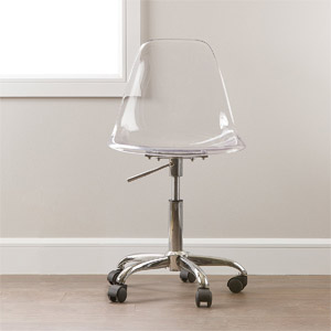South Shore Clear Acrylic Office Chair