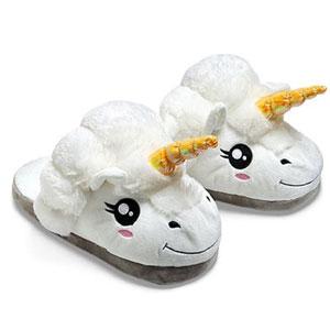 ThinkGeek Plush Unicorn Slippers
