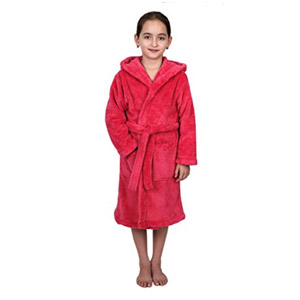 TowelSelections Girls Hooded Robe (Hot Pink)