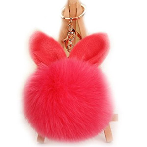URSFUR Faux Fur Ball Keychain