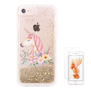 uColor Unicorn Glitter Liquid iPhone Case