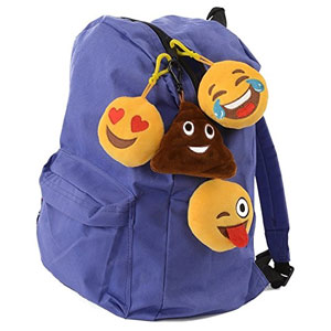 Talking Emoji Backpack Clips