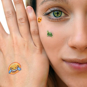 Emoji Temporary Tattoos