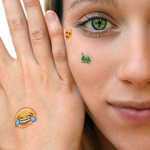 Emoji Temporary Tattoos