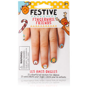 Fingernail Friends Festive Holiday Nail Art