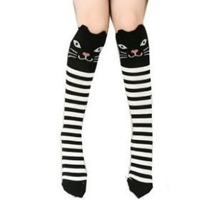 Gellwhu Cartoon Animal Knee High Socks