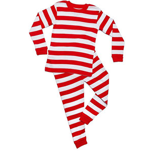 Leveret Boys Striped Christmas Pajamas