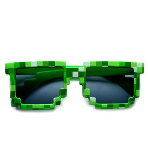 MJ Boutique's 8-Bit Pixel Minecraft Sunglasses