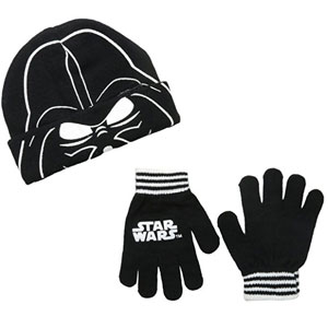 Star Wars Vader Mask Beanie and Glove Set