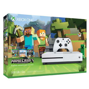 Xbox One S 500GB Console Minecraft Bundle