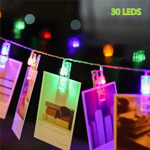 30 LED Photo Clips String Lights Indoor