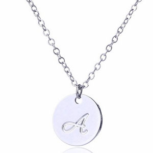 AOLO Small Script Initial Necklace