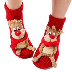 Coxeer Christmas Socks 3d Cartoon Animal