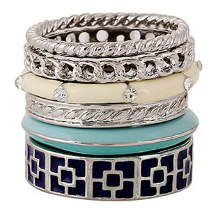 D EXCEED Stackable Ring Set Size