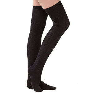 Dimore Womens Cotton Knee High Socks