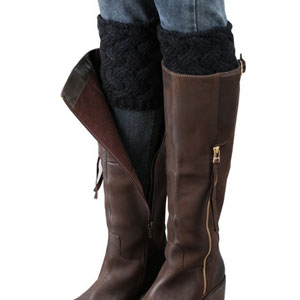 FAYBOX Short Women Crochet Boot Cuffs