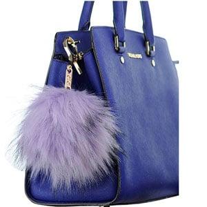 Faux Fur Pom Pom Bag Charm