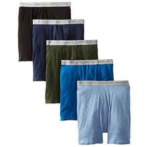 Hanes Mens 5-Pack Ultimate FreshIQ Boxers