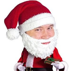 Santa Knit Beard Hat