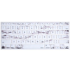White Marble MacBook Keyboard Skin