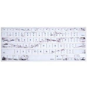 White Marble MacBook Keyboard Skin