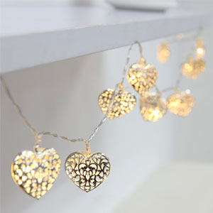 BEIYI Heart-Shape Fairy Lights